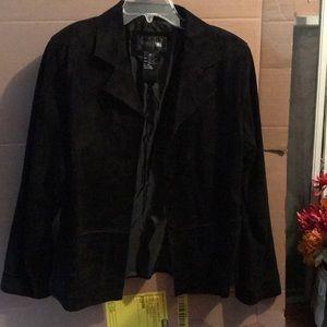 Women's black suede blazer